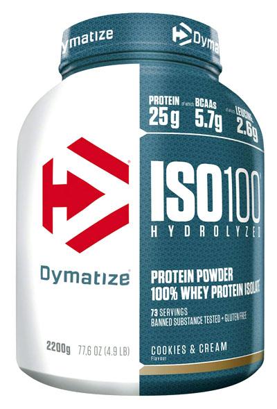 Proteinas aislada Dymatize ISO 100 Cookies & Cream 2200g