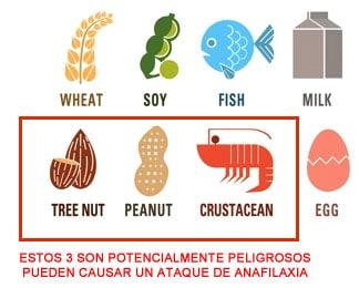 alergenos en proteinas