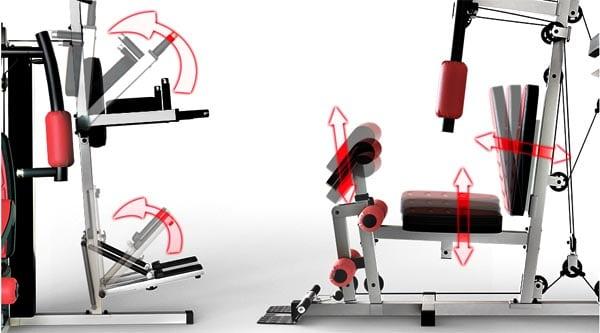 ajustes respaldo y asiento multiestacion musculacion