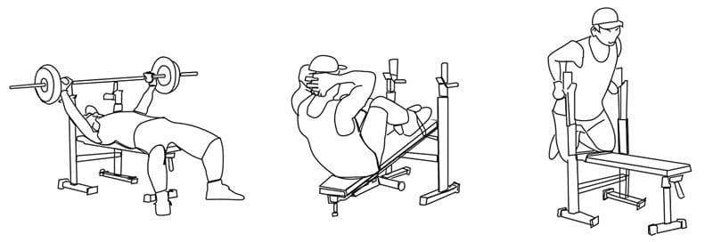 banco multifuncion posibles ejercicios
