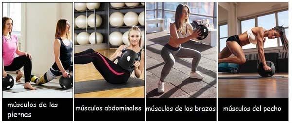 algunos ejercicios del balon medicinal