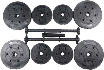 kit de pesas rellenos gama baja