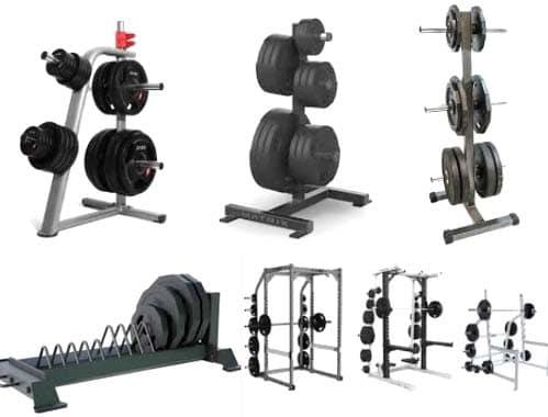 rack para discos de pesas