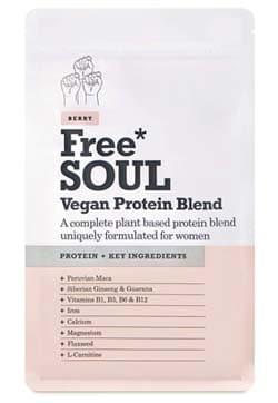 Free Soul Proteína Vegana formulado para mujer