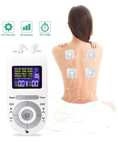 Moonssy Electroestimulador bueno Muscular Masajeador espalda