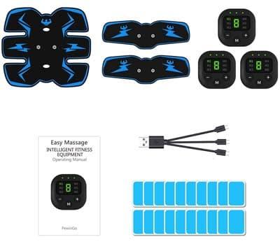 PewinGo Electroestimulador Muscular Abdominales