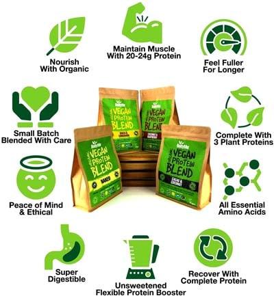 ingredientes proteinas veganas de gimnasio