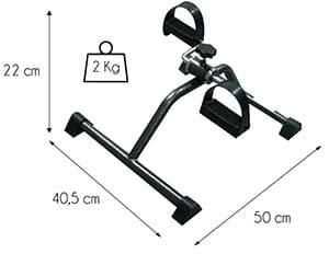 pedales estaticos dimensiones y peso