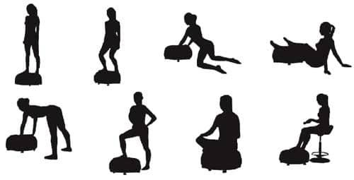 posturas o ejercicios para la plataforma vibratoria