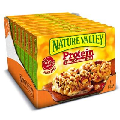 Nature Valley mejor barrita prote cacahuete y caramelo