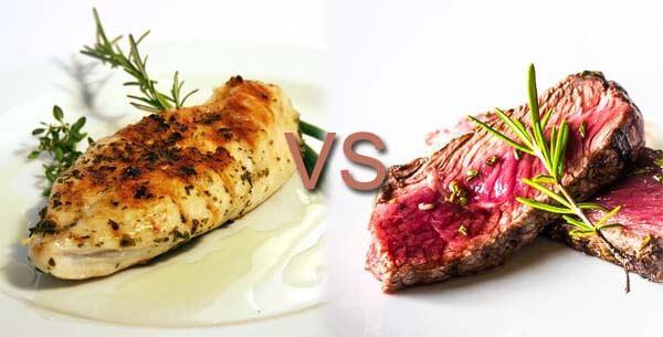 carne blanca vs carne roja