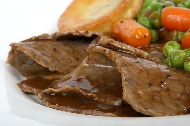 carne de ternera roja en salsa saludable