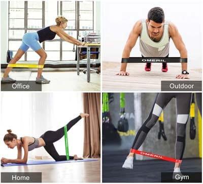 entrena donde quieras con las bandas elasticas en la oficina o en casa