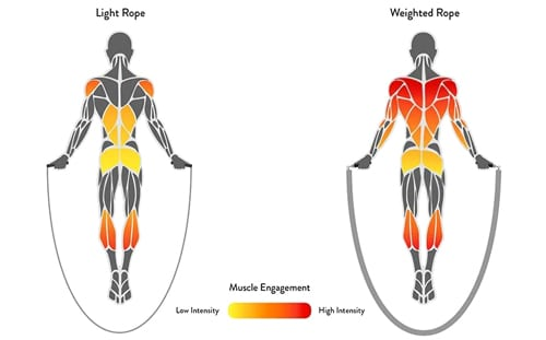 musculos implicados salto de cuerda intensidad segun cuerda