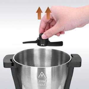 cuchillas del robot cocinero