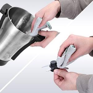 facilidad de limpieza en un robot de cocinas