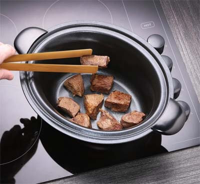 olla lenta poner directa sobre fuego para sellar carne