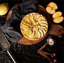 pastel manzana freidora sin aceite