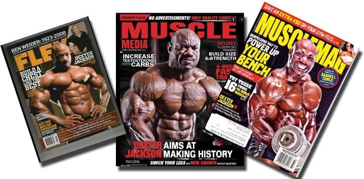 dexter jackson prensa y revistas