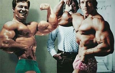 Larry y Arnold de la misma epoca culturista